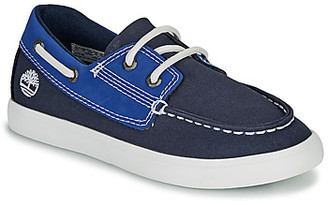 Timberland NEWPORT BAY BOAT SHOE TD girls's Boat Shoes in Blue