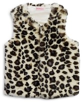 Design History Girls' Animal Spot Faux Fur Vest - Sizes 2-6X