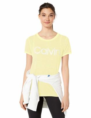 Calvin Klein Women's Calvin Logo Short Sleeve Tee