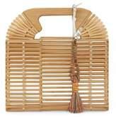 Vince Camuto Bayne Tasseled Bamboo Clutch