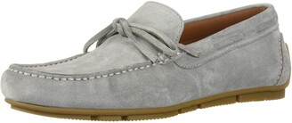 Aquatalia Men's Brian Suede Driving Style Loafer Light Grey 12 M US