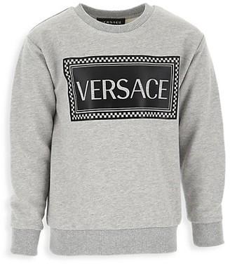 Versace Little Kid's & Kid's Logo Sweatshirt