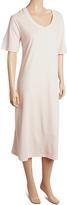 La Cera Pink Long V-Neck Nightgown – Plus Too