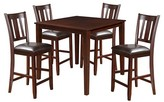 ACME Furniture 5 Piece Odran Counter Height Dining Set Wood/Espresso/Espresso PU - Acme