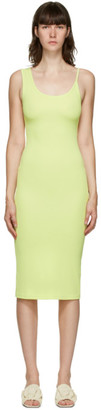 CHRISTOPHER ESBER SSENSE Exclusive Green Asymmetric Strap Midi Dress