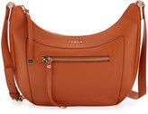 Furla Ginevra Leather Crossbody Bag, Tangerine