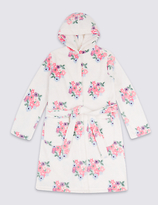 Marks and Spencer Floral Print Dressing Gown with Belt (1-16 Years)