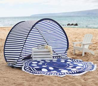 Pottery Barn Kids Family Pop Up Tent - Small Navy/ White Stripe