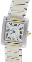 Cartier Tank Francaise W51005Q4 Two-Tone Gold Auto Date 27.50mm Unisex Watch