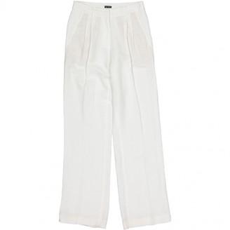 Iris von Arnim White Linen Trousers for Women