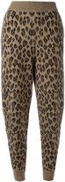 Alexander Wang leopard print track pants - women - Cashmere/Wool - M