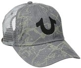 True Religion Men's Spray Printed Mesh Back Cap