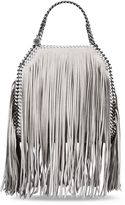 Stella McCartney light grey falabella shaggy deer fringed mini tote