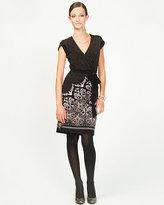 Le Château Knit Faux-Wrap Cocktail Dress