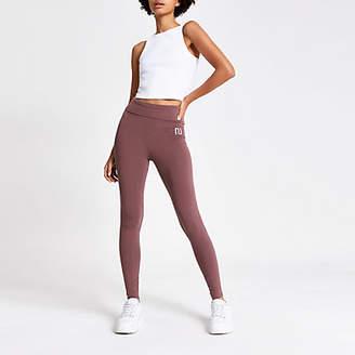 River Island Dark pink RI high waisted leggings