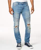 GUESS Men's Skinny Moto Jeans