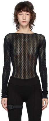 Alyx Black Knit Bodysuit