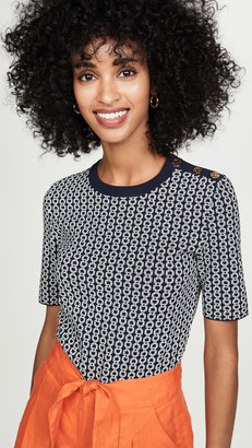 Tory Burch Chain Link Knit Pullover