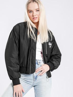 Stussy Graffiti Bomber Jacket in Black