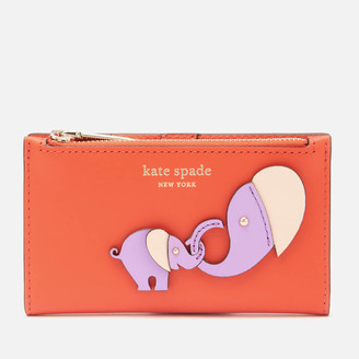 Kate Spade Women's Applique Tiny Small Wallet - Tamarillo Multi