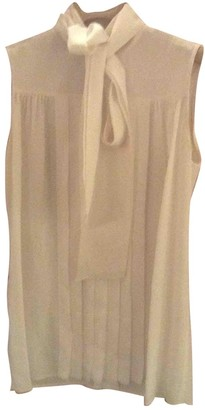 Miu Miu White Silk Top for Women