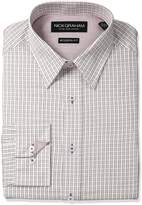 Nick Graham Men's Check Cotton Dress Shirt