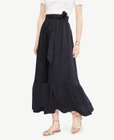 Ann Taylor Tie Waist Maxi Skirt