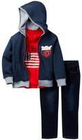 Lucky Brand Patriot Tee, Fleece Hoodie, & Jean Set (Baby Boys)