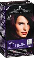 Schwarzkopf Ultime Hair Color Cream, 3.3 Amethyst Black, 2.03 Ounce