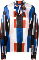 Osman pussy-bow collar shirt - women - Silk - 8