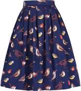 GRACE KARIN Womens Retro Pleated Knee Length A-line Skirt Black JS0401-5 L