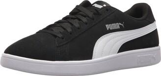 Puma Men's Smash 2 Sneaker Black White Silver 6.5 M US