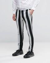 Asos Super Skinny Pants in Black And White Stripe