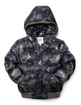 Appaman Puffy Camo Hooded Coat, Size 2-10