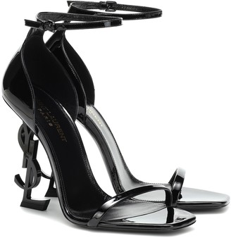Saint Laurent Opyum 110 patent-leather sandals