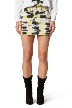 Hudson Tie-Dyed High-Rise Viper Mini Skirt