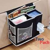 Richard's Homewares Richards Homewares 6 Pocket Bedside Storage Mattress Book Remote Caddy Pack of Two