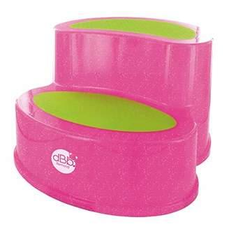 dBb Remond Step Stool Translucent Glitter Pink