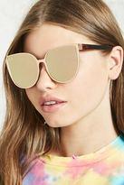Forever 21 FOREVER 21+ Mirrored Cat Eye Sunglasses
