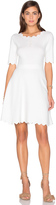 Milly Scallop Ballet Flare Dress