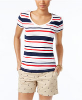 Tommy Hilfiger Wendy Striped V-Neck T-Shirt