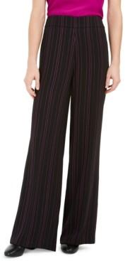 Bar III Striped Wide Leg Pants, Created for Macy's