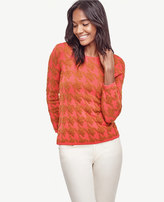 Ann Taylor Houndstooth Jacquard Sweater