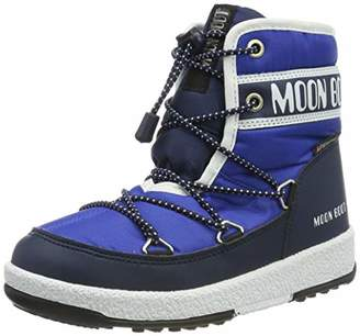Moon Boot Moon-boot Boys Jr Mid Wp Snow Boots, Blue (Blu 002), 3.5UK Child