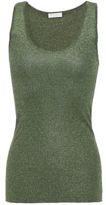 Brunello Cucinelli Metallic Stretch-knit Tank
