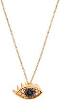 Delfina Delettrez Diamond, sapphire & yellow-gold necklace