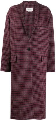 Etoile Isabel Marant Houndstooth Check Cocoon Coat