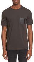 The Kooples Leather Pocket T-Shirt