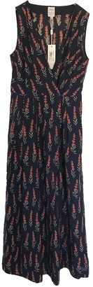 Sara Roka Navy Cotton Dress for Women