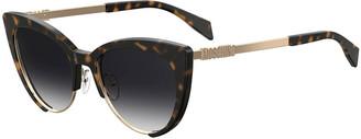Moschino Mirrored Cat-Eye Sunglasses